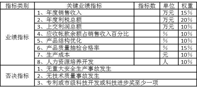 PJ集团子公司年度业绩合同2