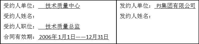 J集团某部门年度业绩合同1